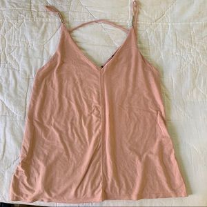Blush ASOS suede tank with gold details